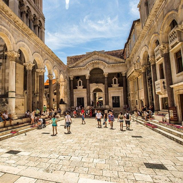 Inside Diocletians Palace in Split, Croatia.