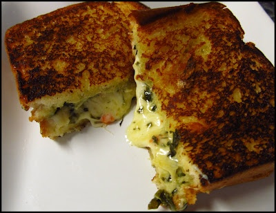 Spinach Artichoke Grilled Cheese...a perfect pairing for my creamy ...