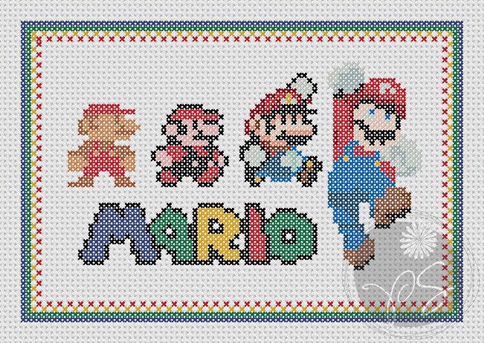 Único Patrones Que Hacen Punto Mario Ilustración - Ideas de Patrones ...