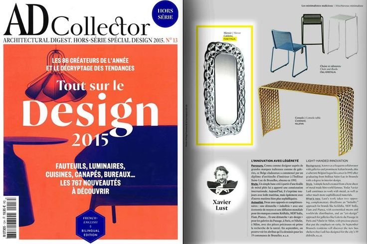 Caldeira mirror by Fiam, design Xavier Lust, on AD France Magazine, September 2015. #Fiam