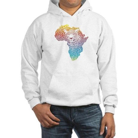 Abstract symbol Africa in leopar Jumper Hoody on CafePress.com