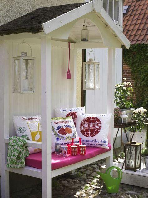 Die besten 25+ Outdoor kissen Ideen auf Pinterest Patio kissen - gemauerte sitzbank im garten