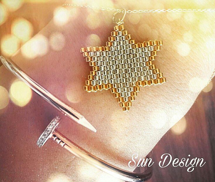 Miyuki yıldız #miyuki #yildiz #bileklik #endlesslove #fashion #beads #pattern #bracelet #kolye #küpe #bileklik #moda #boncuk