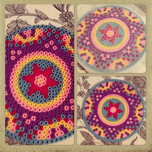 Mandala coaster hama beads by ashaschoonheid