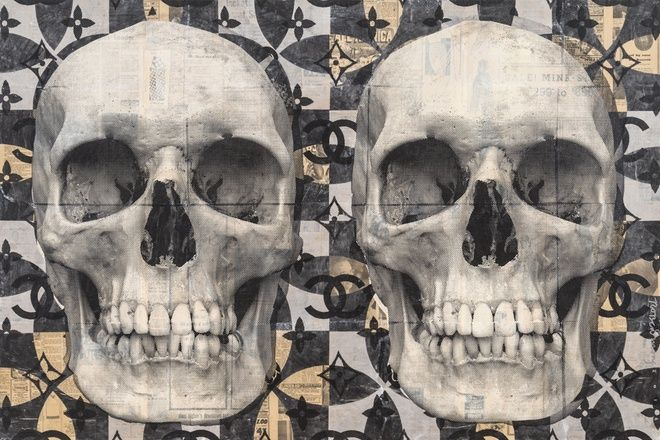 Robert Mars, Born Into A Light Skulls, 2016 at www.meadcarney.com   #RobertMars #MeadCarney #London #art #artgallery #skulls