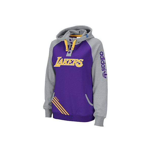adidas Los Angeles Lakers Womens Court Series Originals Hoodie -... ❤ liked on Polyvore