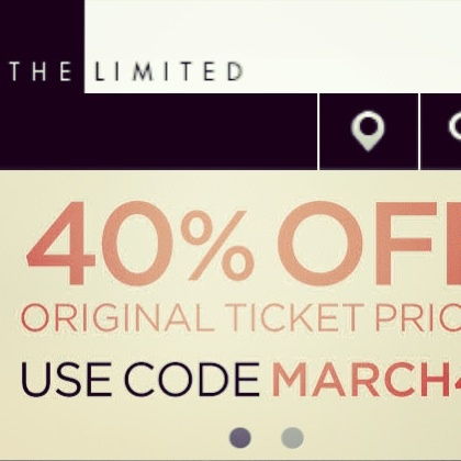 Deal Alert (US): The Limited 40% Off Original Ticket Price Take An Additional 25% Off Markdowns. Happy Shopping! #deal #alert #us #thelimited #sale #discount #markdowns #clothing #fashion #trend #women