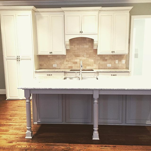 Sherwin williams shoji white painted caibnets with mega for Perfect paint color for kitchen