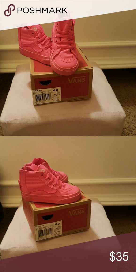 Hot pink high top vans 6c high top vans hot pink Vans Shoes Sneakers