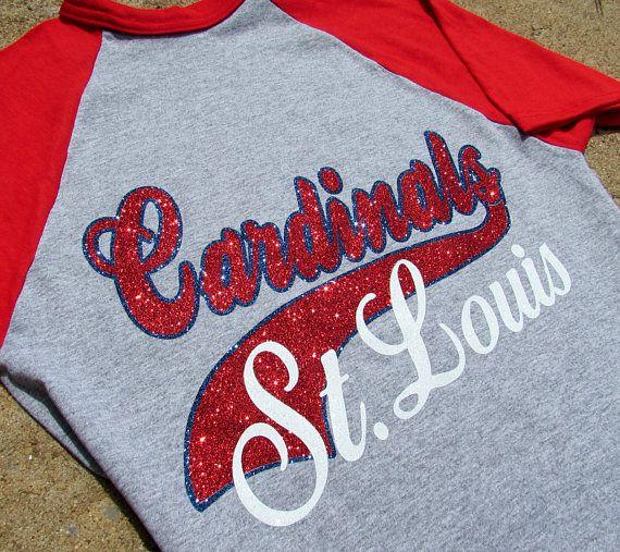St. Louis Cardinals Shirt in SPARKLING GLITTER  Baseball