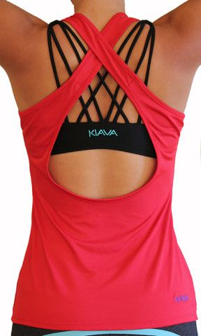 Scoop Top - Ruby Red  So many fitness items I'd love to have!