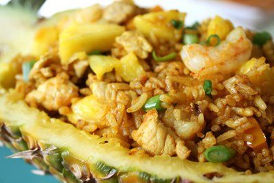 Pineapple Fried Rice ~ one of my most favorite Thai dishes ~ besides Panang curry and Pad Thai