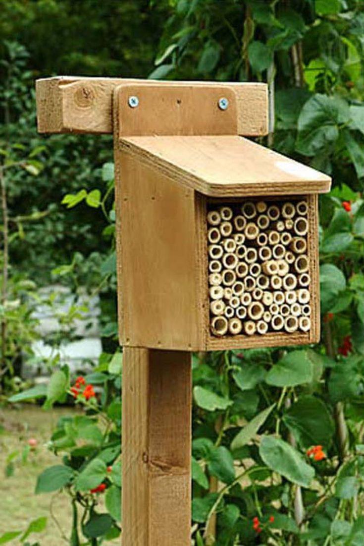 Bee habitat Garden Birds.Bees.Butterflies Pinterest