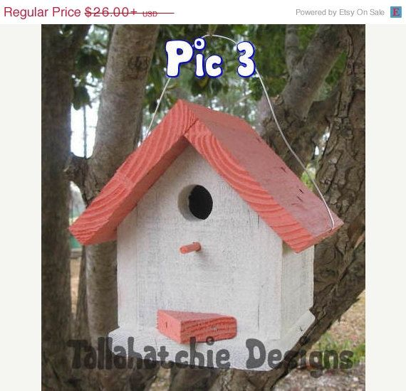 30% OFF TODAY Driftwood Collection Cottage style birdhouse, Cute colorful birdhouse, Beach Birdhouse, Nautical Birdhouse