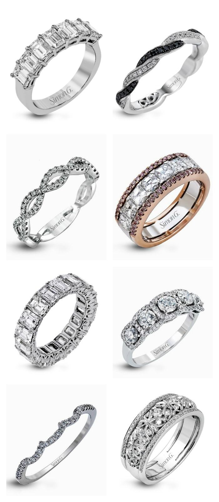 Wow-Factor #wedding bands by Simon G.