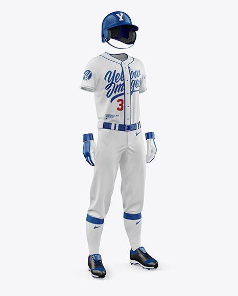 Download Men's Full Baseball Kit Mockup in Apparel Mockups on ...