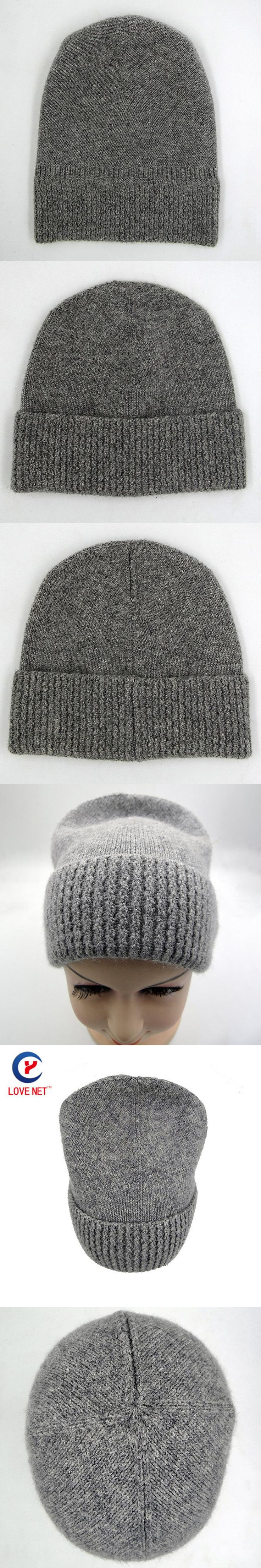 2017 New arrival high quality wool grey beanie hat for women Warm simple style Knitting winter wooly hats online DS20170123 x24