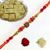 Rakhi with sweets. buy online  at rakhi store www.rakhi.com.au