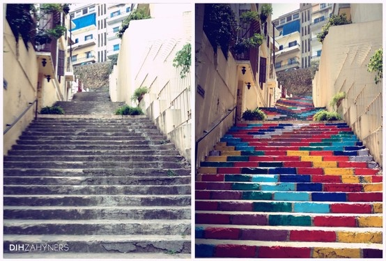 Paint the outside stairs