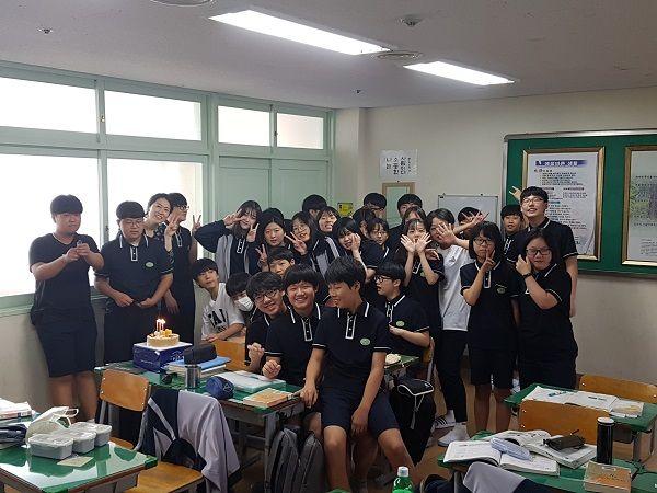 광양백운중학교, 행복한 점심시간