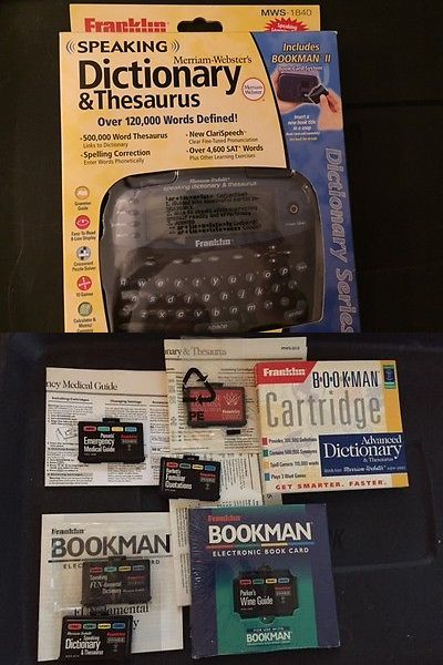 Dictionaries and Translators: Franklin Speaking Dictionary Mws-1840 New With 7 Additional Book Cards -> BUY IT NOW ONLY: $199.99 on eBay!