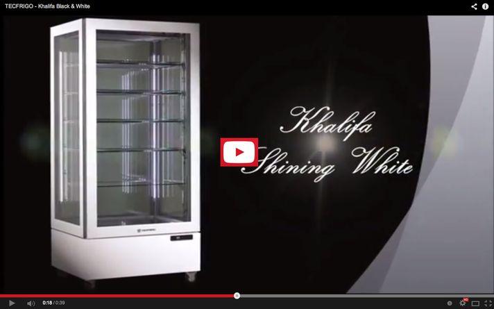 Khalifa Black & White, vetrine per gelateria e pasticceria • Il nostro partner commerciale Tecfrigo è un'industria produttrice di macchine, attrezzature, strumenti per la conservazione e l'esposizione di alimenti refrigerati, neutri e riscaldati.