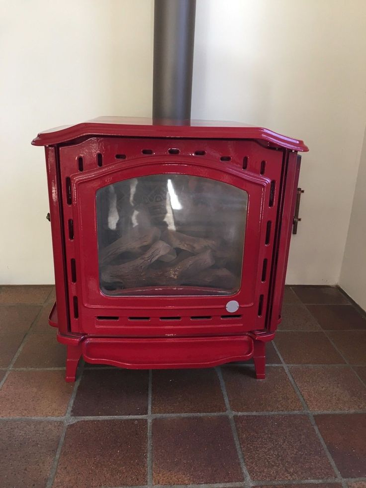 Efel Symphony Gas Fireplace Stove Red Cast Iron Vintage
