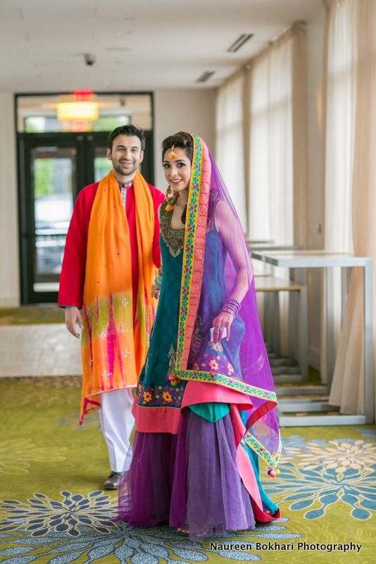 Zainab & Awais mahdi A different colour combination for mahdi..masha allah,, cute couple