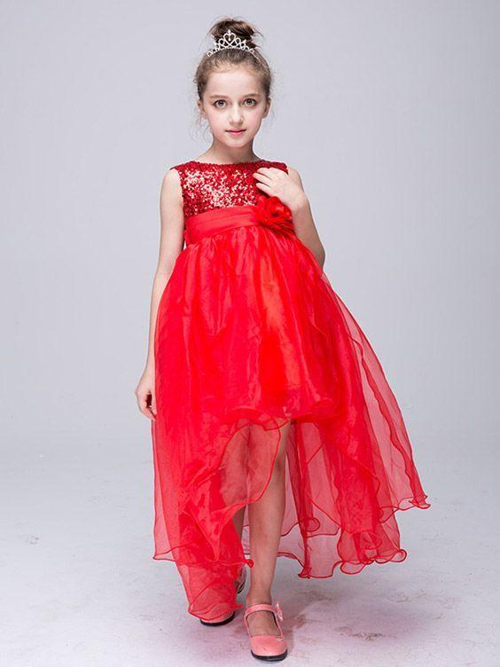 [$36.90] $36.9 Lime Green High Low Tulle Flower Girl Dress