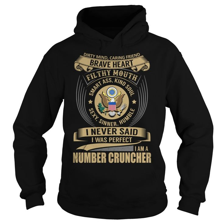 Number Cruncher Brave Heart Job Title TShirt