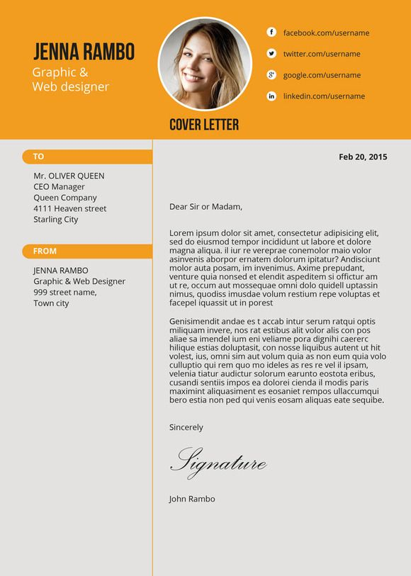 Clean Resume by Rometheme on Creative Market