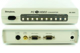 This VGA to Composite Video, S-Video or VGA Video converter converts any VGA source signal to that of NTSC, PAL or SECAM. This video conversion device inputs a standard VGA signal from the source and easily converts it to one of the three aforementioned video formats for display. - $147.00