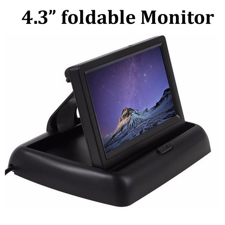 Foldable 4.3 inch TFT LCD display monitor for Car Reverse camera two-way AV in reverse priority