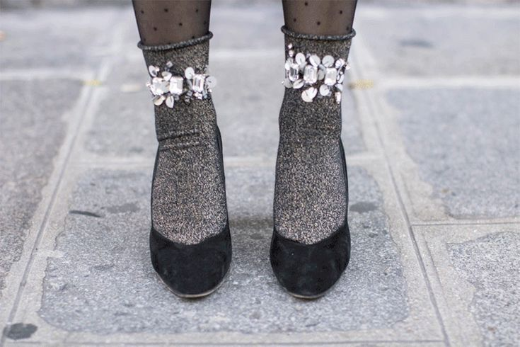 sparkly dancing socks