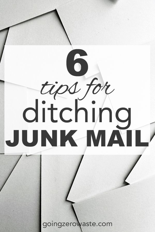 Did you know 51 million metric tons of greenhouse gas is produced from junk mail alone? Get 6 tips for ditching junk mail from www.goingzerowaste.com