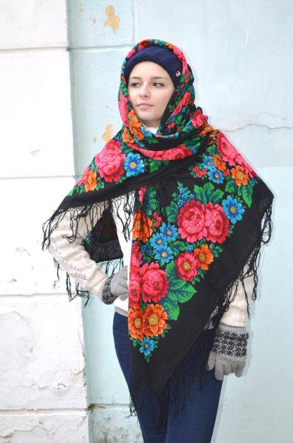 Schön Russisch Folk Retro Schal