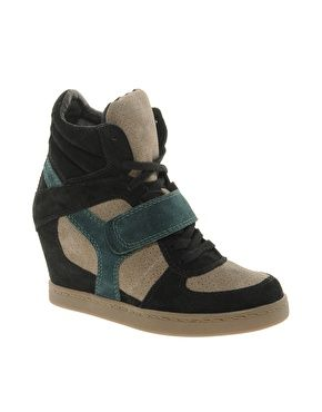 Image 1 of Ash Cool Multicoloured Green Wedge Trainers