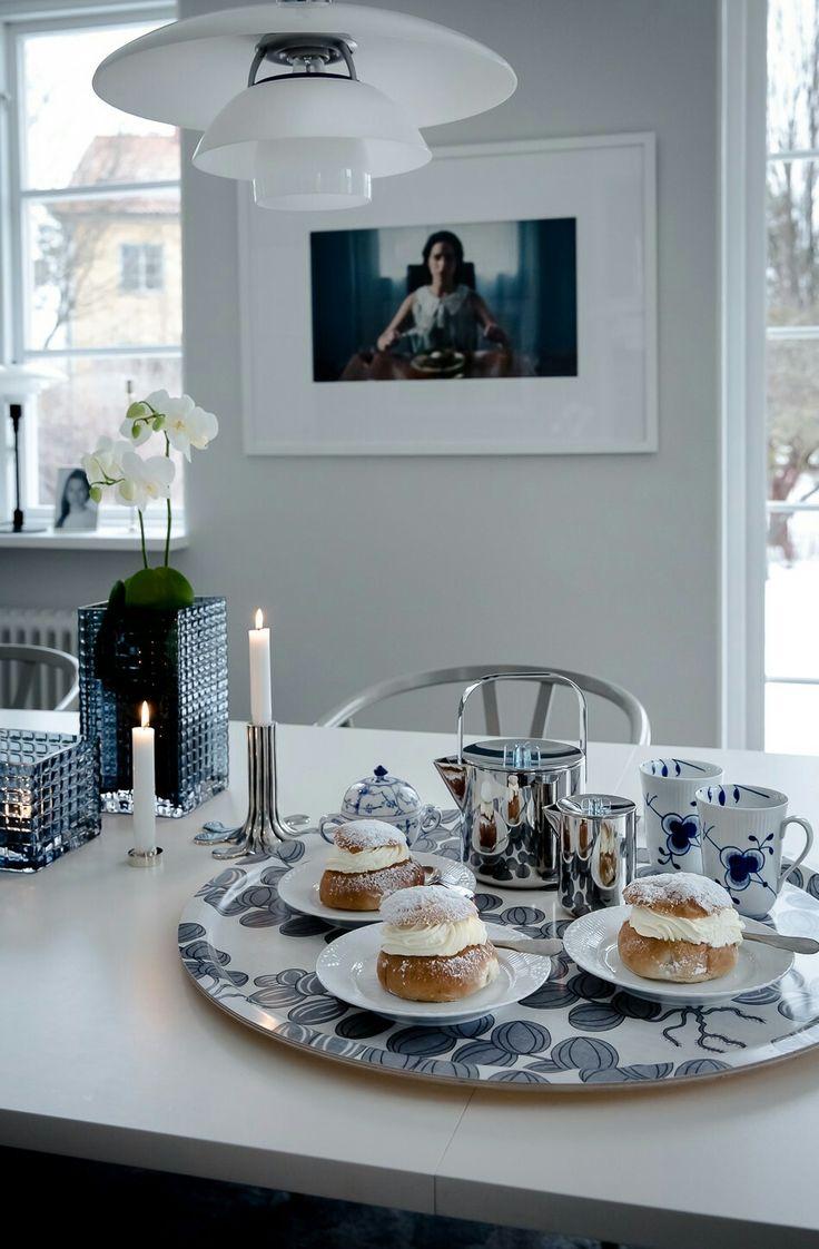 Royal Copenhagen mugs, Svenskt Tenn tray