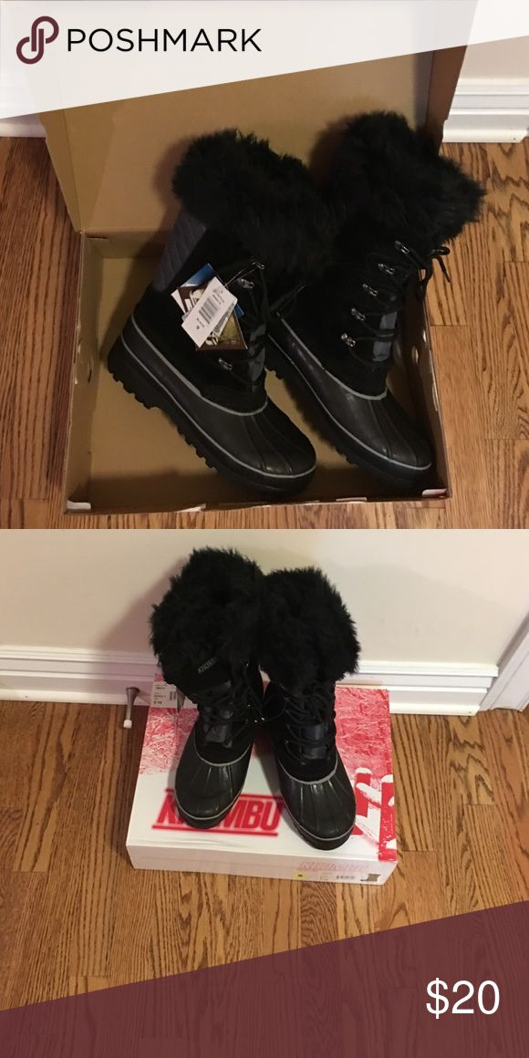 Khombu Winter Boots Size 9.  NWT Ready for winter.  Ladies Size 9 Khombu Boots.  Color Black.  New With Tags. Khombu Shoes Winter & Rain Boots