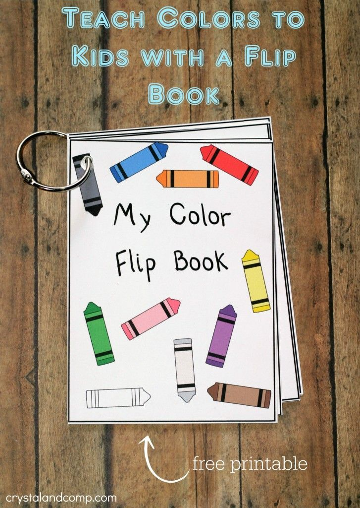 printable color flash card flip book - Color Books For Kindergarten