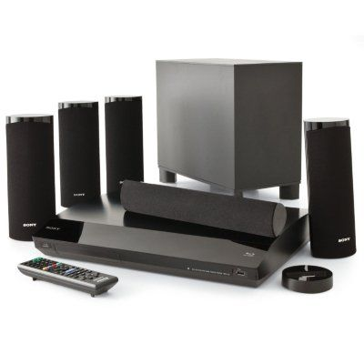 Sony BDV-T58 3D Blu-ray Disc/DVD Home Theatre System 1000W 5.1 channel surround sound. Built-in Wi-Fi with Internet streaming; supports Netflix, YouTube , Pandora & more. 2x HDMI inputs with 3D pass-through support; iPod/iPhone dock. USB slot, plus DLNA wireless streaming of photos, videos and music. Blu-ray 3D playback capability.  #Sony #HomeTheater
