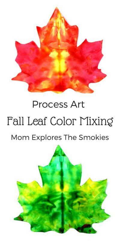 This fun and easy process art project for kids brings the colors of fall leaves to life. We love autumn crafts!