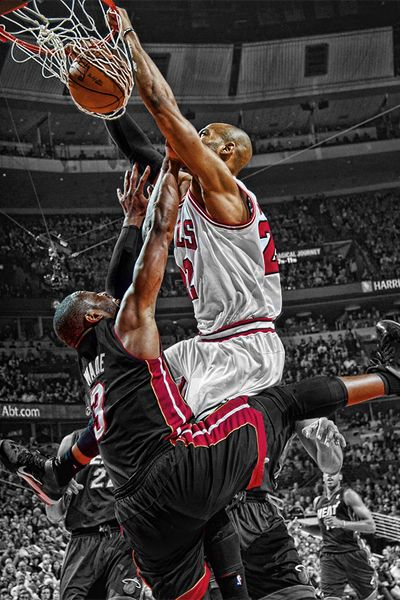 Taj Gibson, the pain in Wades eyes is because the thought we all are all having at looking. At him lol