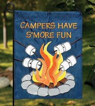 Amazon.com: Camping Campers Have Su0027more Fun Mini Garden Flag Decor:
