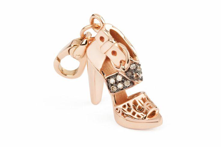 Rosato Gioielli. Pink Gold charm with white diamonds