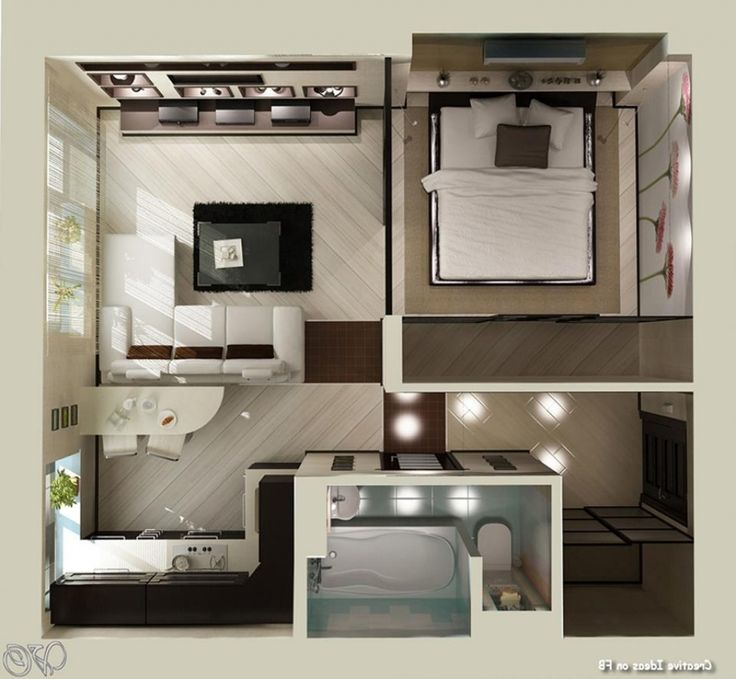 25 best ideas about small apartment plans on pinterest for Studio apartment ideas for couples