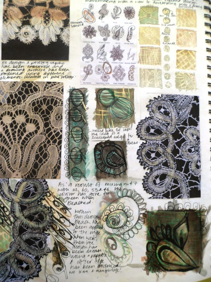 A study page inspired by lace