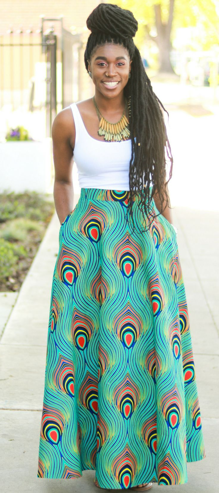Diy Half Circle Skirt With Pockets Tutorial Montoya Mayo African Print Skirt Midi Circle Skirt African Clothing