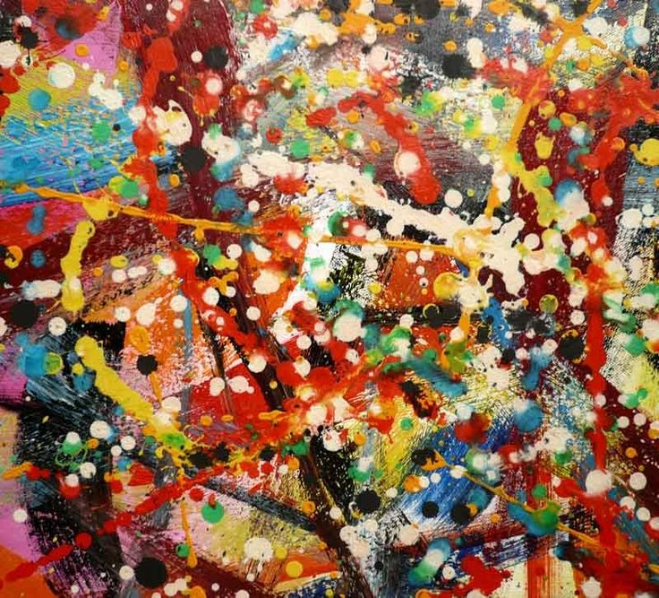 Jackson Pollock: I love the emotion in his paintings. Want to see some in person