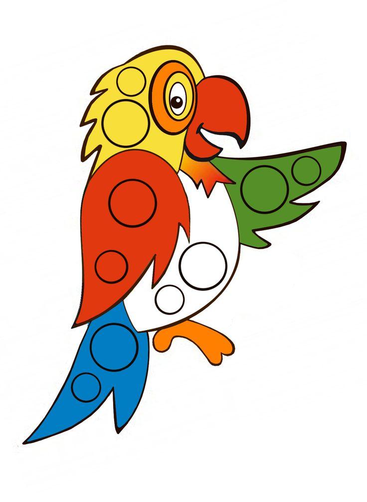 Попугай клипарт рисунок